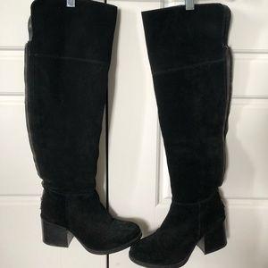 Steve Madden thigh-high block heel boots